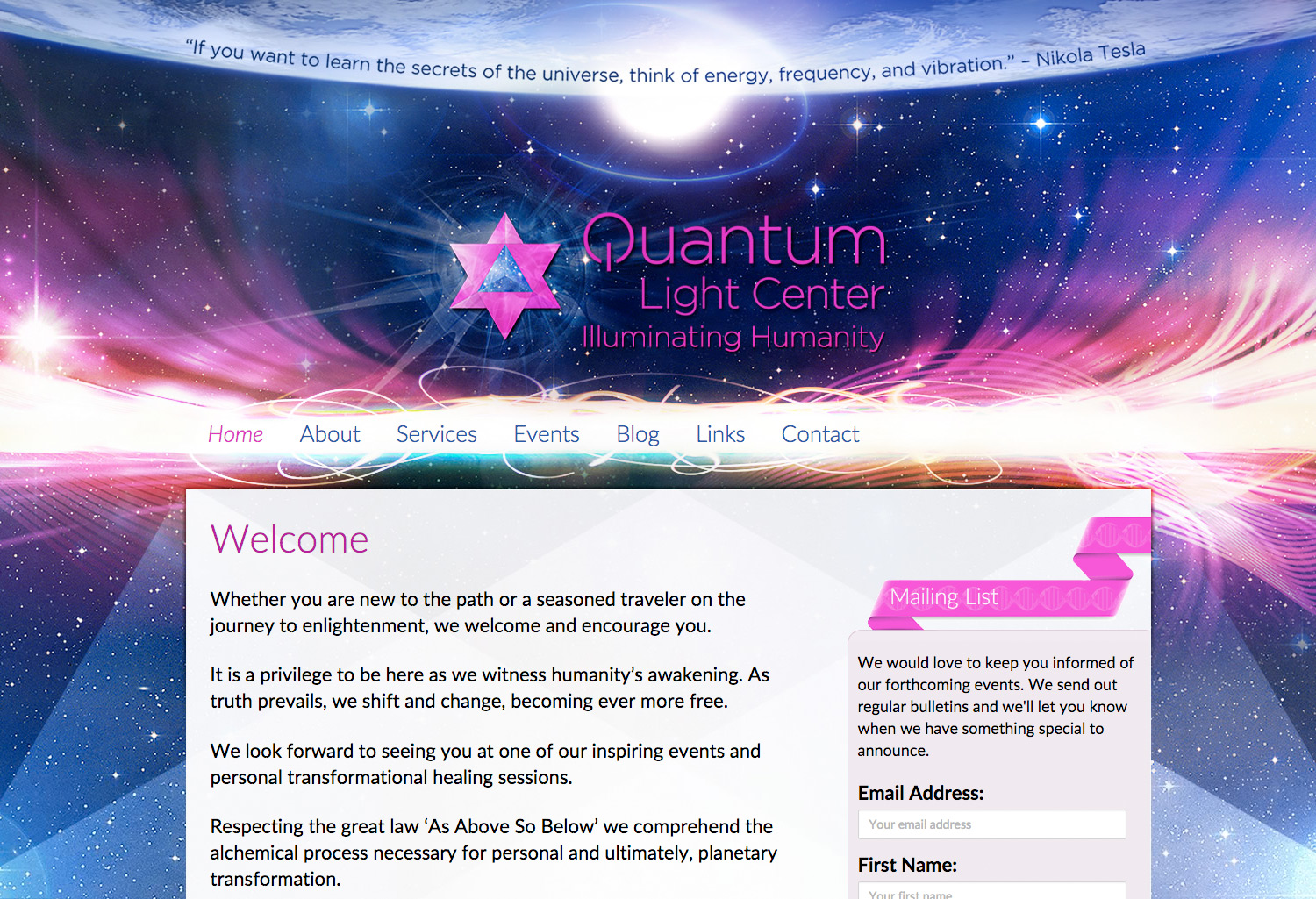 Quantum Light Center